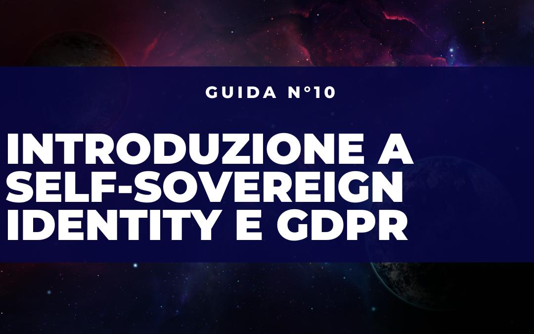 self-sovereign identity e gdpr